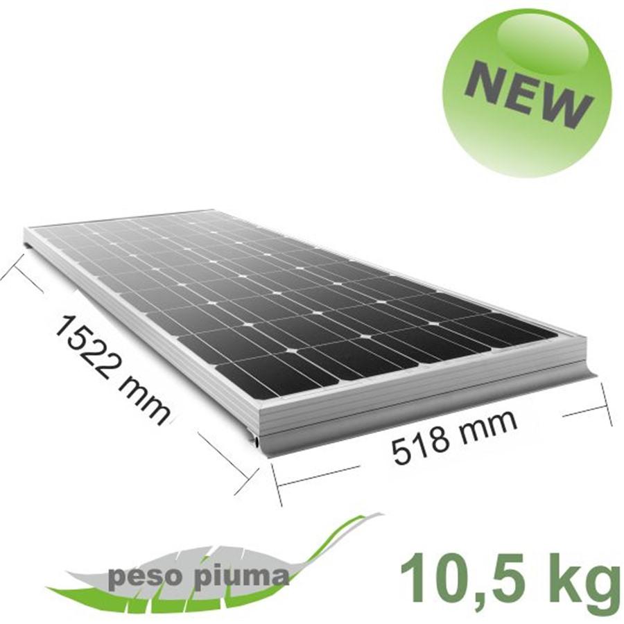 Kit Pannello Solare 50 Watt : Pannello solare moove w mm kit di